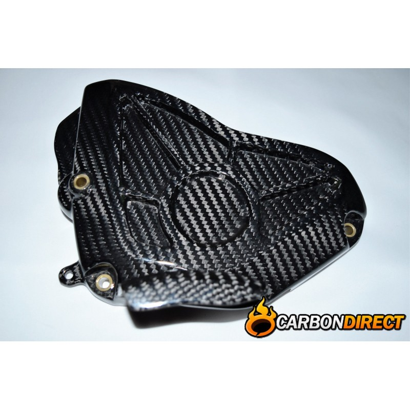 YAMAHA R1 R1M CARBON FIBRE ENGINE SPROCKET COVER IN GLOSS TWILL 2015 - 2016