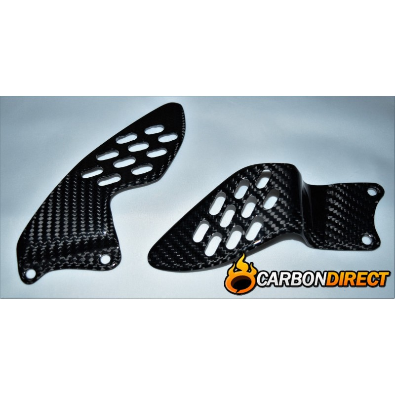 YAMAHA R1 100% CARBON FIBRE HEEL GUARDS IN TWILL GLOSS 2004 - 2006 5VY YZF