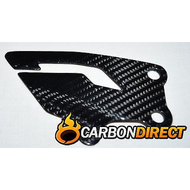 YAMAHA R1 R1M 100% CARBON FIBRE HEEL PLATES GUARDS IN GLOSS TWILL 2015 - 2016