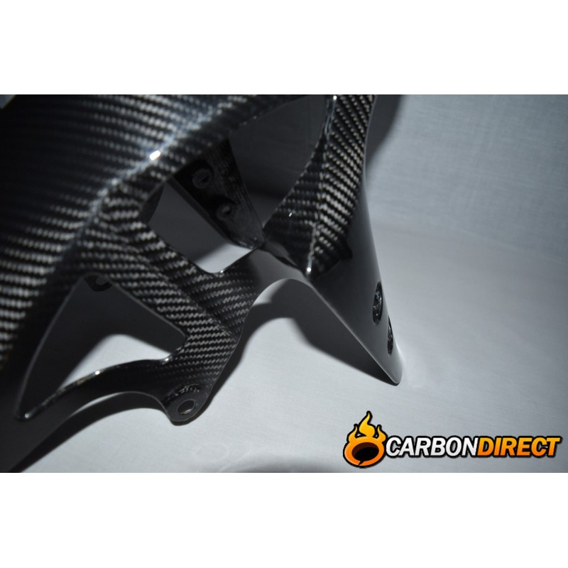 YAMAHA R1 100% CARBON FIBRE FRONT FENDER MUDGUARD IN GLOSS TWILL 2009 - 2014 14B