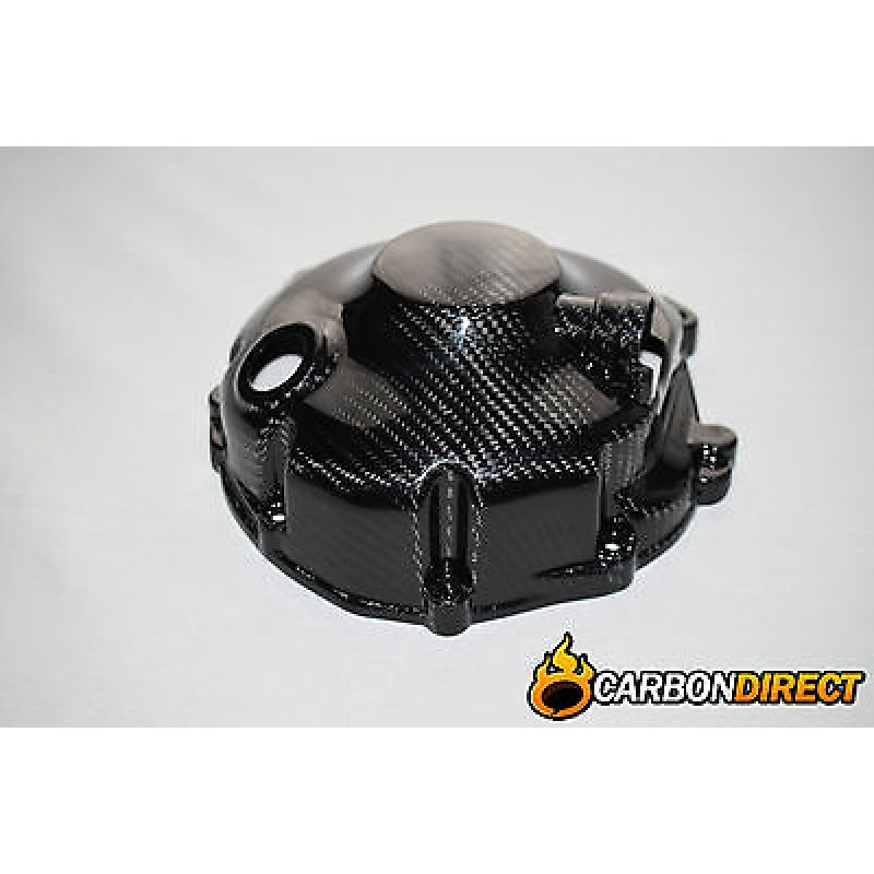 YAMAHA R6 100% CARBON FIBRE CLUTCH ENGINE COVER IN GLOSS TWILL 2006 - 2015