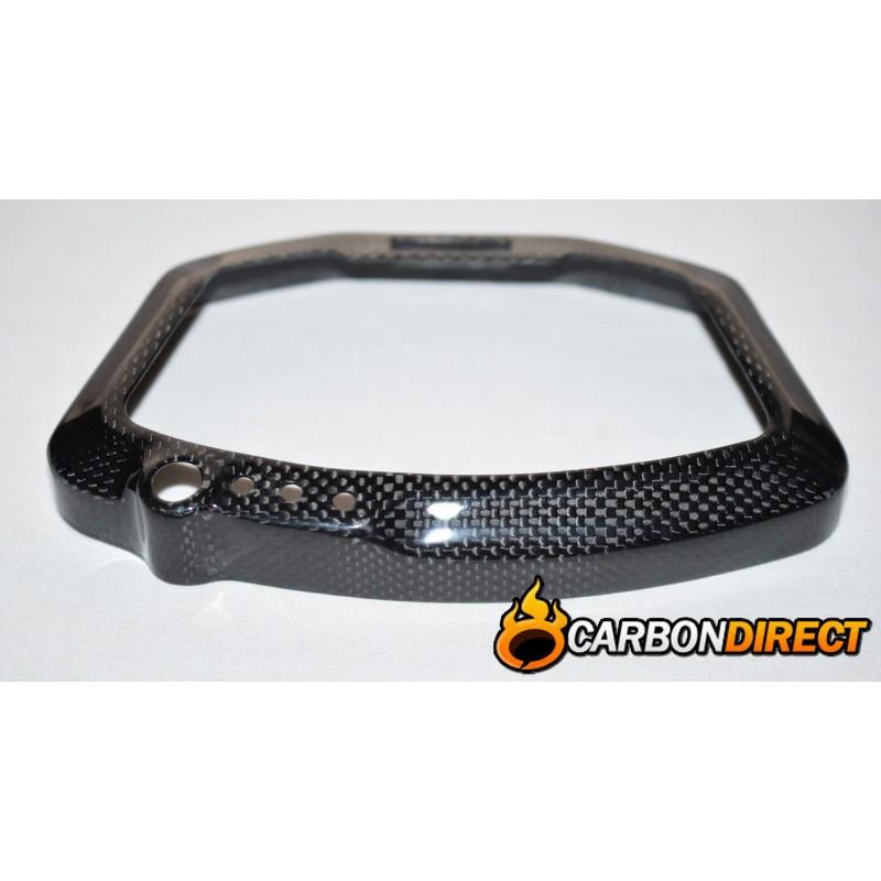 DUCATI 848 1098 1198 100% CARBON FIBRE DASH CLOCK SURROUND IN GLOSS PLAIN WEAVE