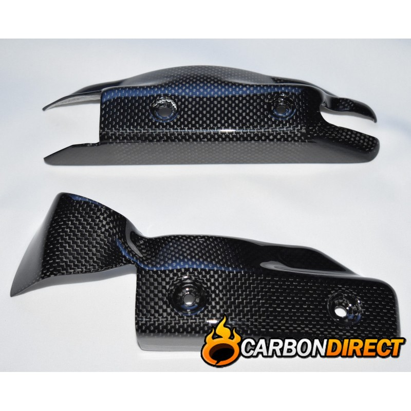 DUCATI STREETFIGHTER 100% CARBON FIBRE SIDE RADIATOR COVERS / GUARDS IN GLOSS