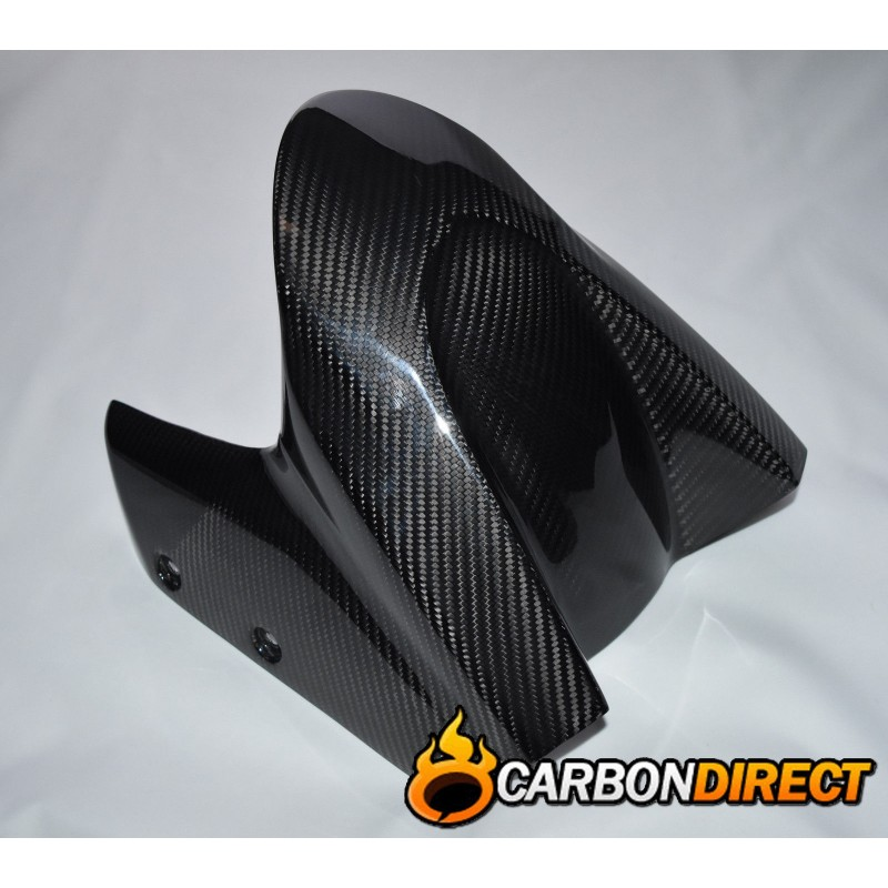 YAMAHA TMAX 100% CARBON FIBRE FRONT FENDER MUDGUARD IN GLOSS TWILL 2008- 2016